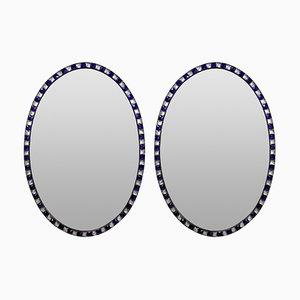 Stud Framed Mirrors, 1970s, Set of 2