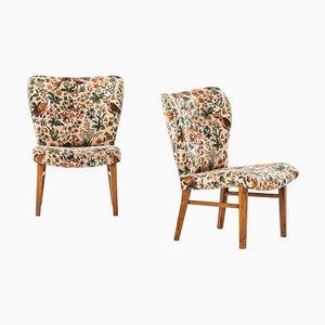 Easy Chairs Attributed to Erik Bertil Karlén from Firma Rumsinteriör, 1940s, Set of 2