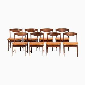 Palisander Esszimmerstühle von Ib Kofod-Larsen für Seffle Möbelfabrik, Schweden, 1960er, 8er Set