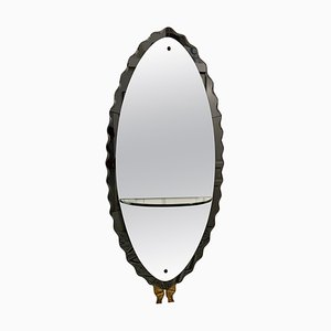 Large Grey Mirror from Cristal Arte, 1950s