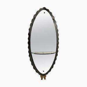 Specchio grande grigio di Cristal Arte, anni '50