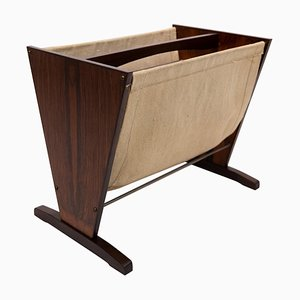 Danish Rosewood Newspaper Rack, 1960s