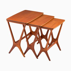 Mid-Century Scandinavian Nesting Tables by Erling Torvits for HM, 1950s