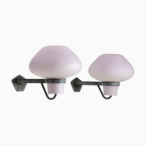 Large Outdoor Wall Lamps by Gunnar Asplund for ASEA, 1940s, Set of 2