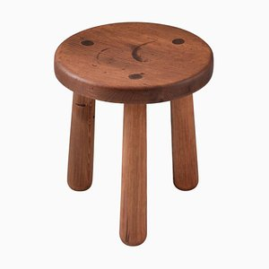 Swedish Pine Model Utö Stool by Axel Einar Hjorth for Nordiska Kompaniet, 1930s