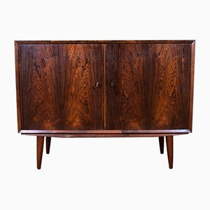 Mid-Century Danish Rosewood Lockable 2-Door Sideboard, 1960s