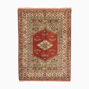 Vintage Turkish Melas Wool Carpet