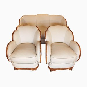 Cloud Living Room Set, 1930s, Set of 3