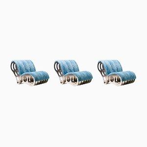 Aluminium Chair in Baby Blue Mink, 2003