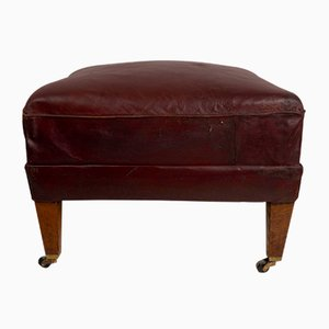 Late-19th Century Leather Stool