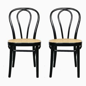 No. 218 Black Chairs by Michael Thonet, Set of 2