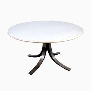 Tavolo da pranzo rotondo T69B di Osvaldo Borsani per Tecno, anni '60