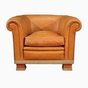Italian Leather Armchair, 1970s