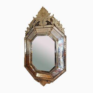 Vintage Venetian Beveled Mirror
