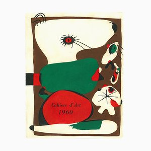 Frontispiece for Cahiers d'Art - Lithograph by J. Mirò - 1960