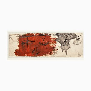 Eyelids - Vintage Offset Print after Antoni Tàpies - 1982