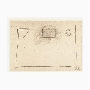 Addition -Vintage Offset Print After Antoni Tàpies - 1982