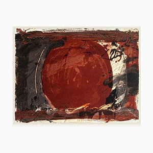 Roter Spiegel mit Offsetdruck nach Antoni Tàpies - 1982 1982