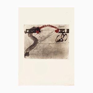 Impression of Wood - Vintage Offset Druck Nach Antoni Tàpies - 1982