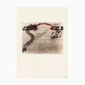 Impression of Wood - Vintage Offset Print After Antoni Tàpies - 1982