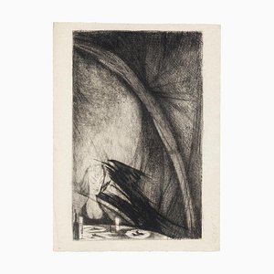 Nightmare - Original Etching by Marcel Gaillard - 1958