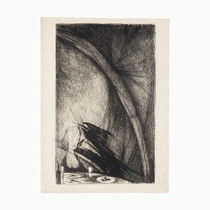 Nightmare - Original Radierung von Marcel Gaillard - 1958