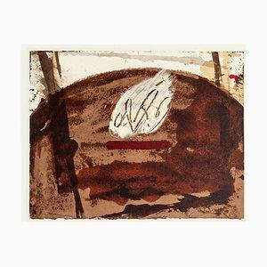 White Flame - Vintage Offset Print After Antoni Tàpies - 1982