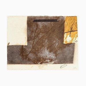 T Grau Up Side Down - Vintage Offset Druck Nach Antoni Tàpies - 1982
