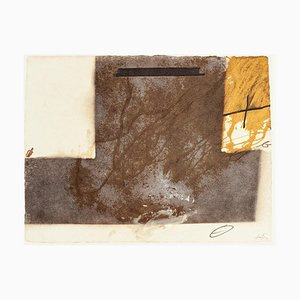 T Grey Up Side Down - Vintage Offset Print After Antoni Tàpies - 1982