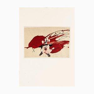 White Hand - Vintage Offset Print After Antoni Tàpies - 1982