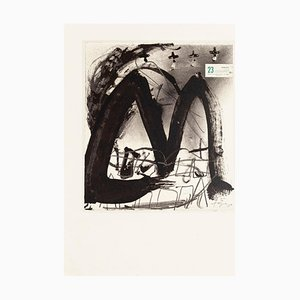 23 F - Vintage Offset Print After Antoni Tàpies - 1982