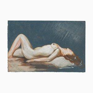 Nude - Originales Aquarell auf Papier von Jean Delpech - 1940er