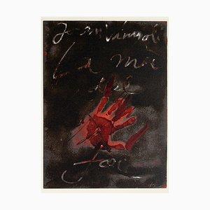 Hand of Fire - Vintage Offsetdruck nach Antoni Tàpies - 1982