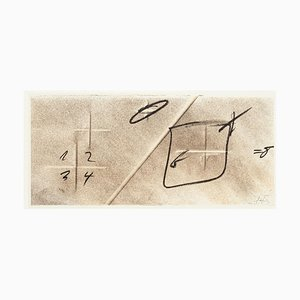 Division by Diagonal - Vintage Offset Print After Antoni Tàpies - 1982