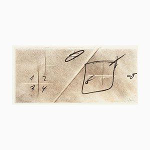 Division by Diagonal - Vintage Offsetdruck Nach Antoni Tàpies - 1982