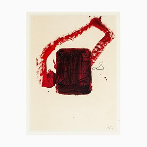Box - Vintage Offset Print After Antoni Tàpies - 1982