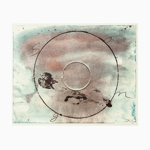 Memory of the Songs - Vintage Offset Print After Antoni Tàpies - 1982