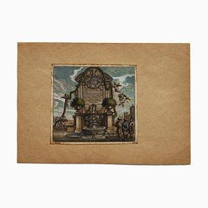 Fountain - Original Etching - 16th Century 16th century