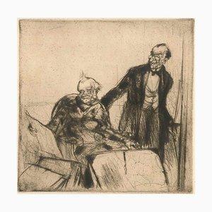 Amateurs d'Estampes - Original Radierung von Armand Coussens - 1921