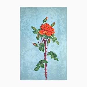 Lithographie Originale Rose par Marie-Madeleine de Rasky - 20ème Siècle