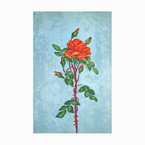 Rose - Original Lithographie von Marie-Madeleine de Rasky - Mid 20th Century