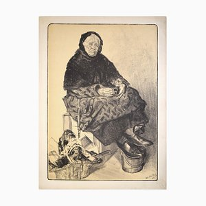 Lithographie Originale de Marchand de Lacets par Louis Malteste - 1897