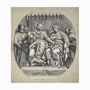 The King and the Queen - Etching after Domeniquin (Domenichino) by G. Audran 1650-1699
