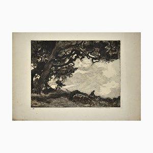 The Flock - Original Radierung von Germaine Garcin - 1920er