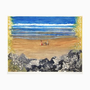Le Retour par la Plage (Tunisie) - Original Monotype by E.Deschler - 1977 1977