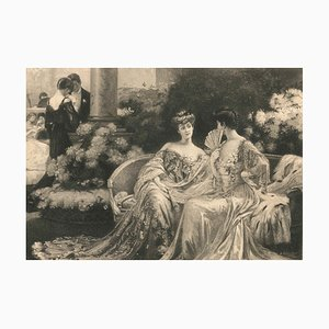 Confidences - Original Etching by Alfred Boulot - 1900-1930