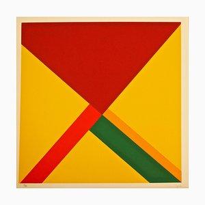 Composition - Sérigraphie Originale par Mauro Reggiani - 1972