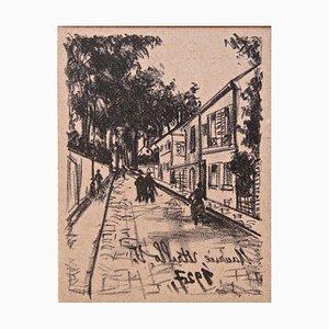 Streefader - Original Lithographie von Maurice Utrillo - 1927