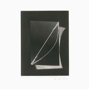 Modell Carletlettre Tendue - Inversé - Original Mezzotint von Joerg Ortner - 1974 1974