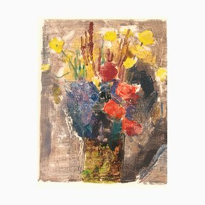 Bouquet - Original Lithograph XX century 20th century